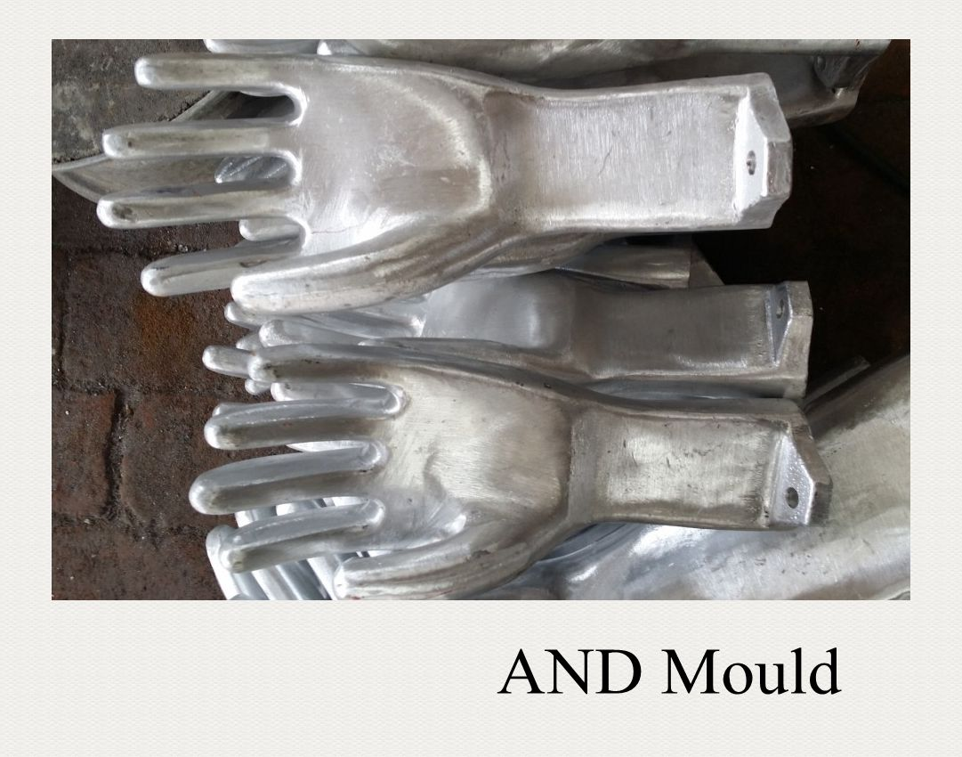 PVC glove mould for knitted gloves,knit wrist work gloves