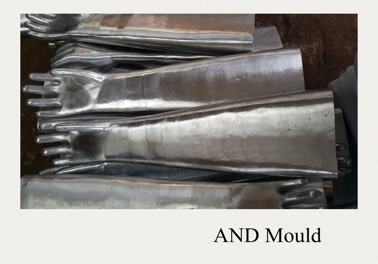 PVC glove mould for PVC safety gloves, industry gloves, work gloves 70cm total length
