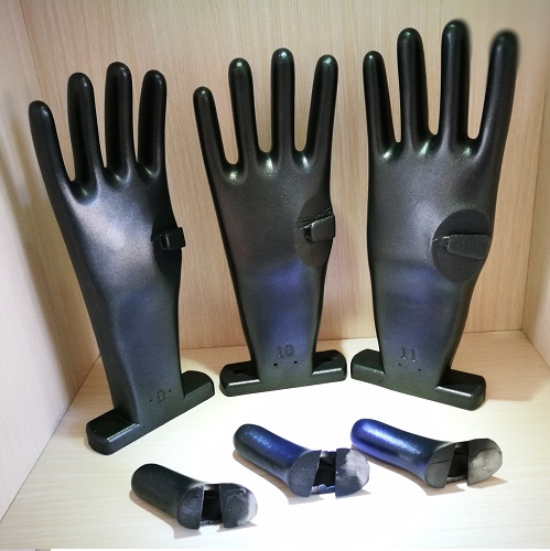 Blue nitrile with safety sleeves